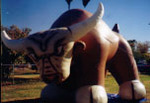 Bull parade balloon