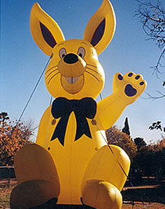 rabbit advertising inflatable