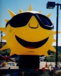 85018 fruit inflatables Sun shape advertising inflatables for rent